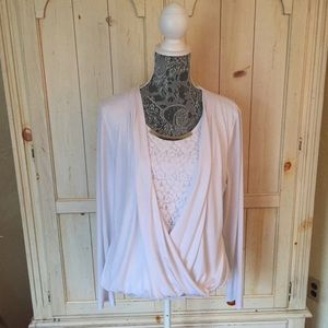 Beautiful CALVIN KLEIN Top w/ Attached Shell/Large